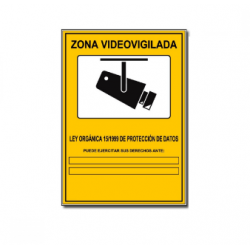 Cartel Pegatina Disuasorio Zona Vigilada 24h