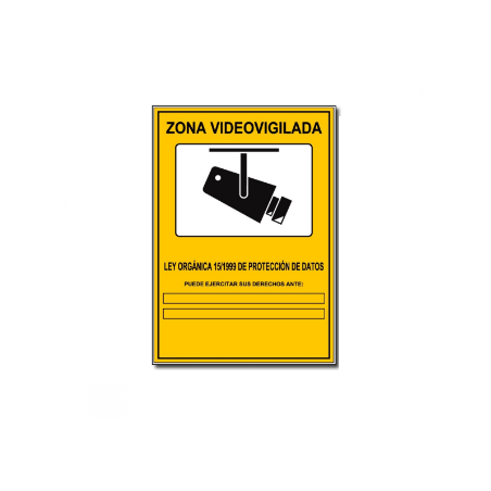 Cartel Disuasorio Zona Vigilada 24h
