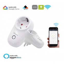 Enchufe inteligente inalámbrico WiFi Alexa Google