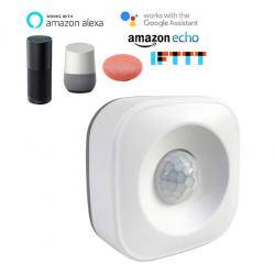 Smart Life Detector de Movimiento PIR WiFi para la Oficina en casa, Alarma de Seguridad Compatible con Alexa Google Home