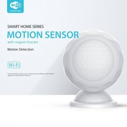WiFi Smart PIR Sensor de movimiento Dectector Compatible con Alexa eco Google