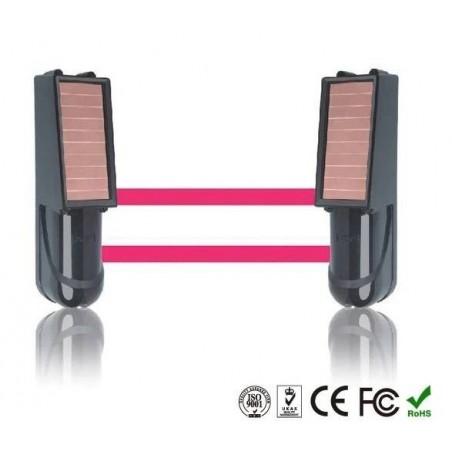 Alarma Barrera infrarrojos perimetral hasta 100M Solar + Bateria