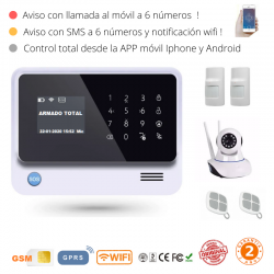 KIT 224 * Kit de Alarma G90B Plus Original 2019  WIFI GSM GPRS SMS