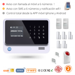 KIT 995 * Kit de Alarma G90B Plus Original 2019  WIFI GSM GPRS SMS