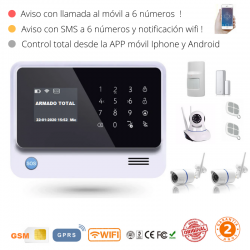 KIT 2393 * Kit de Alarma G90B Plus Original 2019  WIFI GSM GPRS SMS