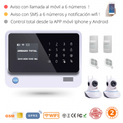 KIT 1776 * Kit de Alarma G90B Plus Original 2019  WIFI GSM GPRS SMS