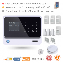 KIT 1529 * Kit de Alarma G90B Plus Original 2019  WIFI GSM GPRS SMS