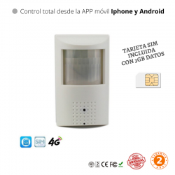 Cámara P2P 2MP 3G 4G Wifi IP con tarjeta sim 4G 1080P Sensor Sony