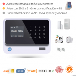 KIT 1536 * Kit de Alarma G90B Plus Original 2019  WIFI GSM GPRS SMS