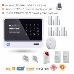 KIT 107 * Kit de Alarma G90B Plus Original WIFI GSM GPRS SMS