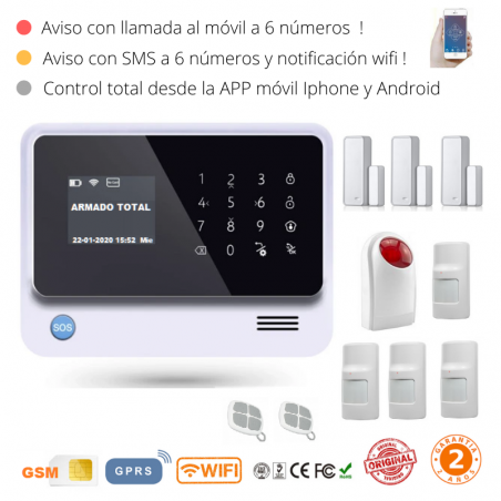 KIT 10-9 * Kit de Alarma G90B Plus Original WIFI GSM GPRS SMS