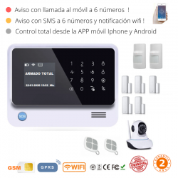 KIT 291-1 * Kit de Alarma G90B Plus Original 2019  WIFI GSM GPRS SMS
