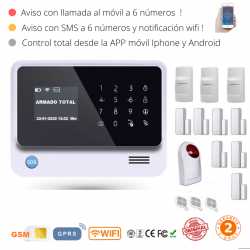 KIT 21-5 * Kit de Alarma G90B Plus Original 2019  WIFI GSM GPRS SMS