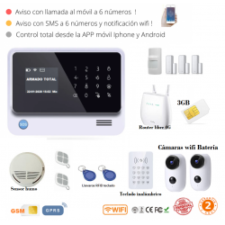 KIT 291-10 * Kit de Alarma G90B Plus Original  WIFI GSM GPRS SMS