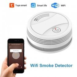 Detector de humo Tuya WiFi aplicación inteligente alarma de fuego Sensor de humo WiFi
