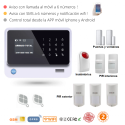 KIT 100 * Kit de Alarma G90B Plus Original WIFI GSM GPRS SMS