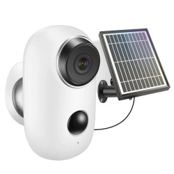 Cámara IP con batería recargable, carga de energía Solar 1080P HD, cámara WiFi inalámbrica de seguridad para exteriores