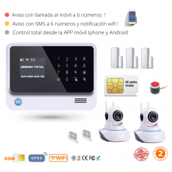 KIT 137 * Kit de Alarma G90B Plus Original WIFI GSM GPRS SMS