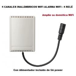 Relés 4 canales inalambricos - Compatible alarma G90B y Plus