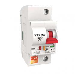 Interruptor de circuito WiFi inteligente IFTTT, protección contra cortocircuitos, Control remoto, aplicación TUYA de 25A