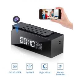 Reloj inteligente Tuya, cámara IP inalámbrica con WIFI para seguridad del hogar, visión nocturna, Cámara secreta