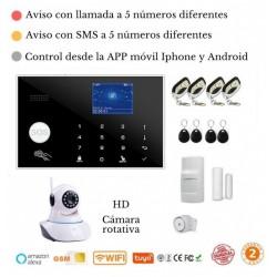 KIT 164/21 * Alarma Original G205 WIFI - GSM + APP + Domótica fácil + Configuración total incluida