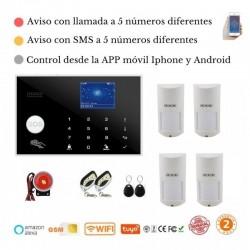 KIT 163/21 * Alarma Original G205 WIFI - GSM + APP + Domótica fácil