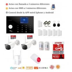 Kit 160/21 * Alarma Original G205 WIFI - GSM + APP + Domótica fácil