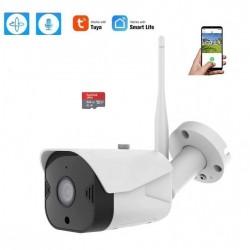 Cámara de Vigilancia Wifi Exterior 1080P, Compatible con Alexa, app TUYA Exterior IP66