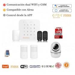 Kit 180/21* Alarma Original G-MAX WiFi GSM FHSS GFSK anti inhibidores