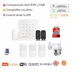 Kit 181/21* Alarma Original G-MAX WiFi GSM FHSS GFSK anti inhibidores