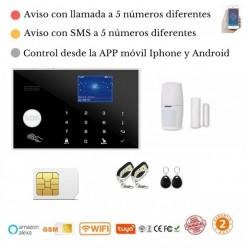 KIT 185/21 * Alarma Original G205 WIFI - GSM + APP + Domótica fácil