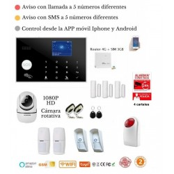KIT 186/21 * Alarma Original G205 WIFI - GSM + APP + Domótica fácil