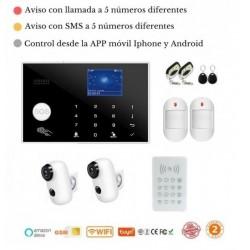 KIT 178/21 * Alarma Original G205 WIFI - GSM + APP + Domótica fácil