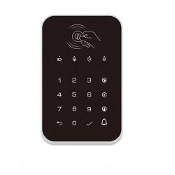 Teclado táctil inalámbrico, RFID, contraseña, con batería recargable