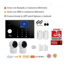 KIT Alarma Original G205 WIFI - GSM + APP + Domótica fácil